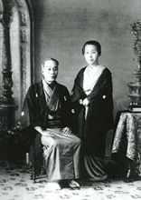 Photographic portrait of Mr, and Mrs.FUKUZAWA