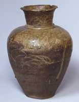 Vase with Autumn Grasses Motif