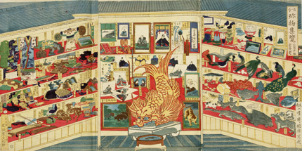 Kokon chinbutsu shuran (Curios of all themes) by ICHIYOSAI Kuniteru (Meiji Period)