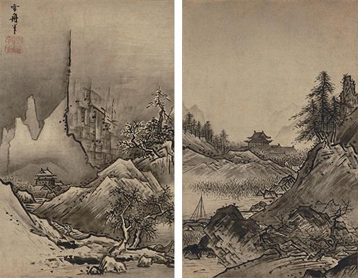 国宝 秋冬山水図  雪舟等楊筆 室町時代・15世紀末~16世紀初