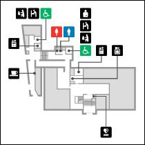 黒田記念館1階 フロアマップ