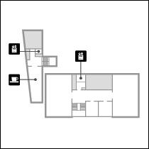 黒田記念館2階 フロアマップ