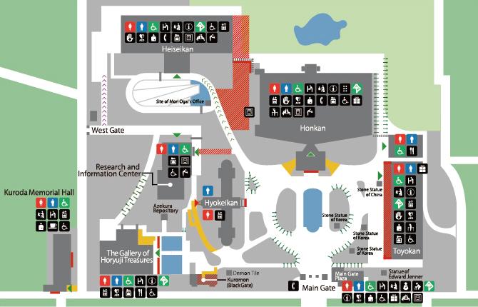 正門周辺および構内 マップ