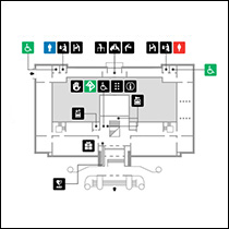 本館1階 フロアマップ