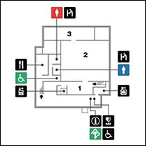 法隆寺宝物館1階 フロアマップ