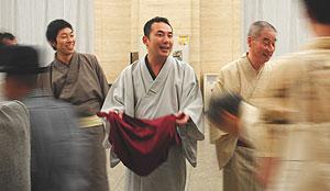 駒松さん、馬治さん、馬生さん 募金活動