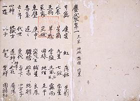 重要文化財 塵袋 印融写 室町時代・永正5年(1508) 町田久成氏寄贈