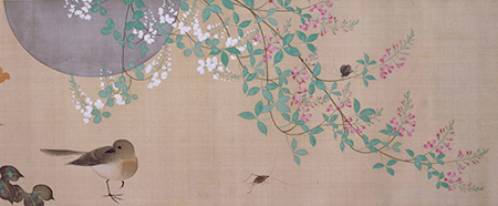 四季花鳥図巻(巻頭)