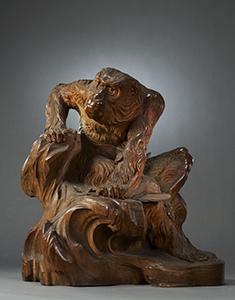 重要文化財 老猿 高村光雲作 明治26年(1893) シカゴ・コロンブス世界博覧会事務局