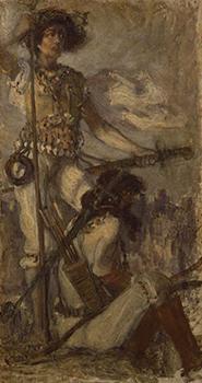 日本武尊 青木繁筆 明治39年(1906)