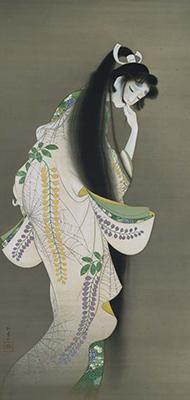 焔 上村松園筆    大正7年(1918)