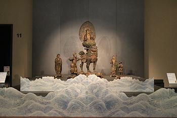重要文化財 文殊菩薩騎獅像および侍者立像 康円作 興福寺伝来 鎌倉時代・文永10年(1273)
