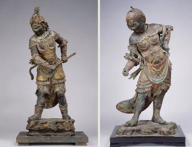重要文化財 十二神将立像(左から辰神、巳神)