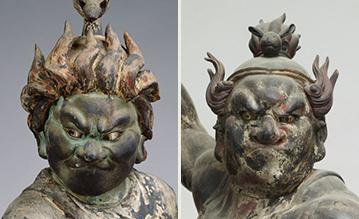 左:当館所蔵 右:本山慈恩寺の十二神将