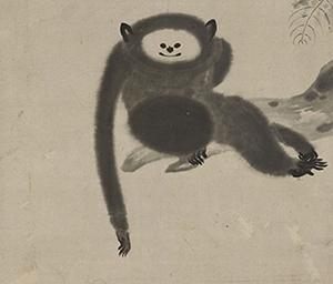猿猴図(部分)