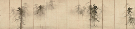 松林図屏風屏風