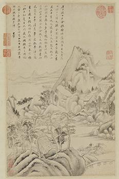 渓山仙館図