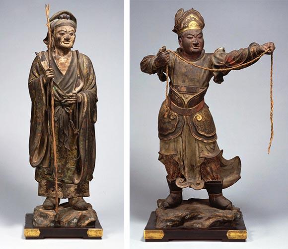 大聖老人立像、于闐王立像