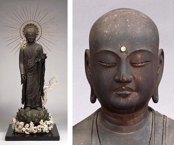 地蔵菩薩立像および地蔵菩薩立像(頭部)