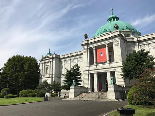 「フランス人間国宝展」会場の表慶館
