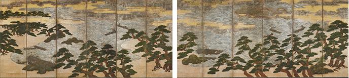重要文化財 浜松図屏風