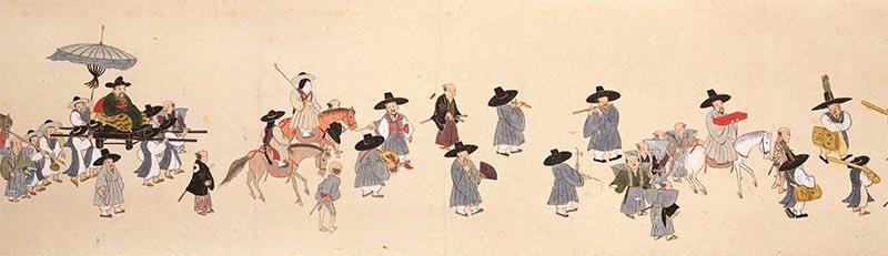 朝鮮人行列図