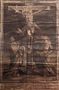 十字架上のキリスト図