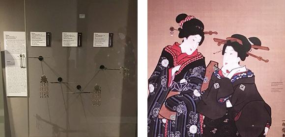 簪の展示とイメージグラフィック