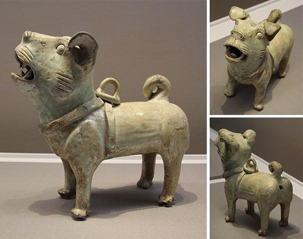 緑釉犬 中国 後漢時代・2~3世紀 武吉道一氏寄贈