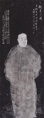 呉昌碩像軸 任伯年筆 清時代・光緒12年(1886) 個人蔵