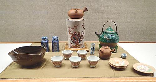 煎茶具一式 青木木米他作 江戸時代・19世紀