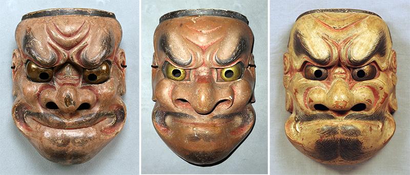 観世型の写し(東博所蔵)、宝生型の写し(文化庁所蔵)。