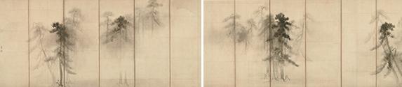 国宝 松林図屏風