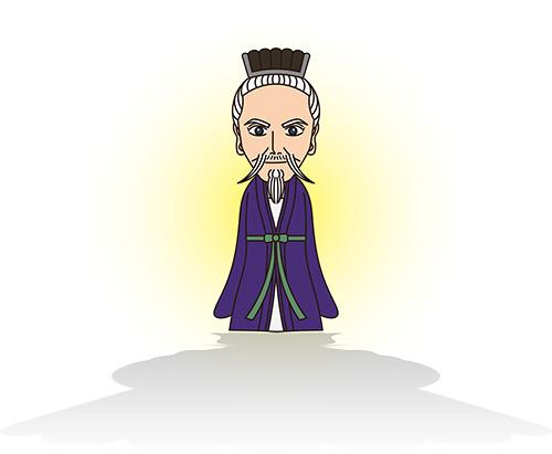 王羲之書法の残影イラスト