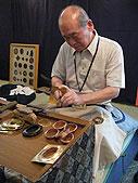 伝統工芸品の実演