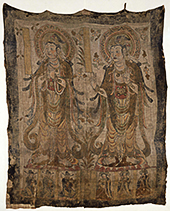 Banner with Two Standing Bodhisattvas