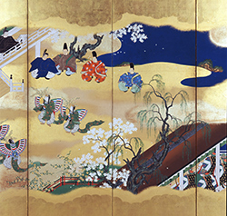 "Scenes from the Tale of Genji, Kocho (""Butterflies"") Chapter (detail)"