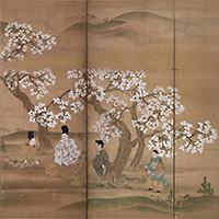 Cherry-blossom Viewers (detail)