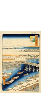 名所江戸百景・日本橋雪晴