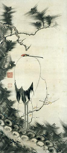 Pine Tree, Plum Blossoms, and Crane