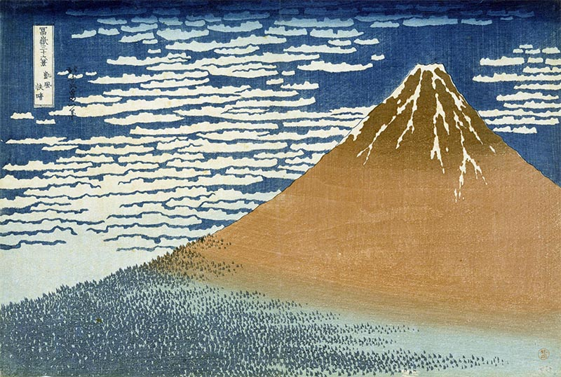 Thirty-six Views of Mount Fuji: A Mild Breeze on a Fine Day