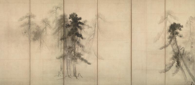 松林図屏風の写真