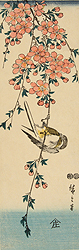 Drooping Cherry Tree with Bird