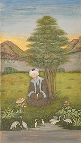 Mendicant Saint in Thought Under Tree
