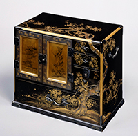 Cabinet, Mount Yoshino design in maki-e lacquer