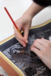 1. Stencil cutting