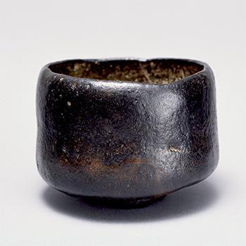 黒楽茶碗 銘 尼寺 長次郎 安土桃山時代・16世紀 松永安左エ門氏寄贈