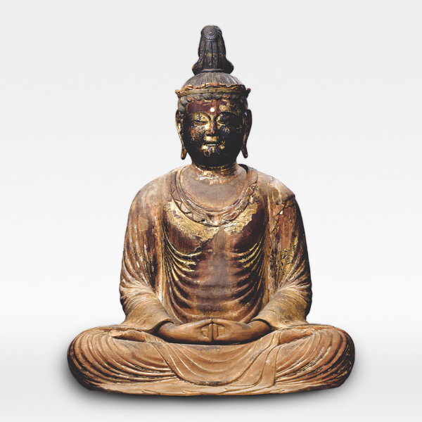 Seated Amida Nyorai (Amitabha) with Jeweled Crown, Kamakura period, 13th century, Aichi, Zaikaji