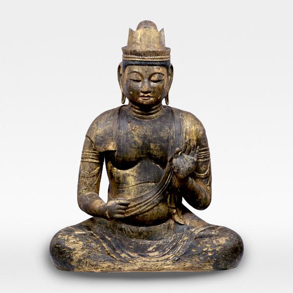 Seated Kokuzo Bosatsu (Akasagarbha), Heian period, 11th century, Ibarakk, Makabecho yamaguchichiku