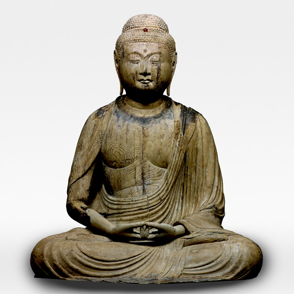 Seated Amida Nyorai (Amitabha), Heian period, 11th century, Fukushima, Sugi amidado